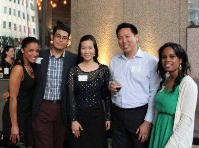 YLS members from left to right:  Mabel Diclo, David Solares, YLS President Grace Kim, Justin Shiau, Fiawna Jones
